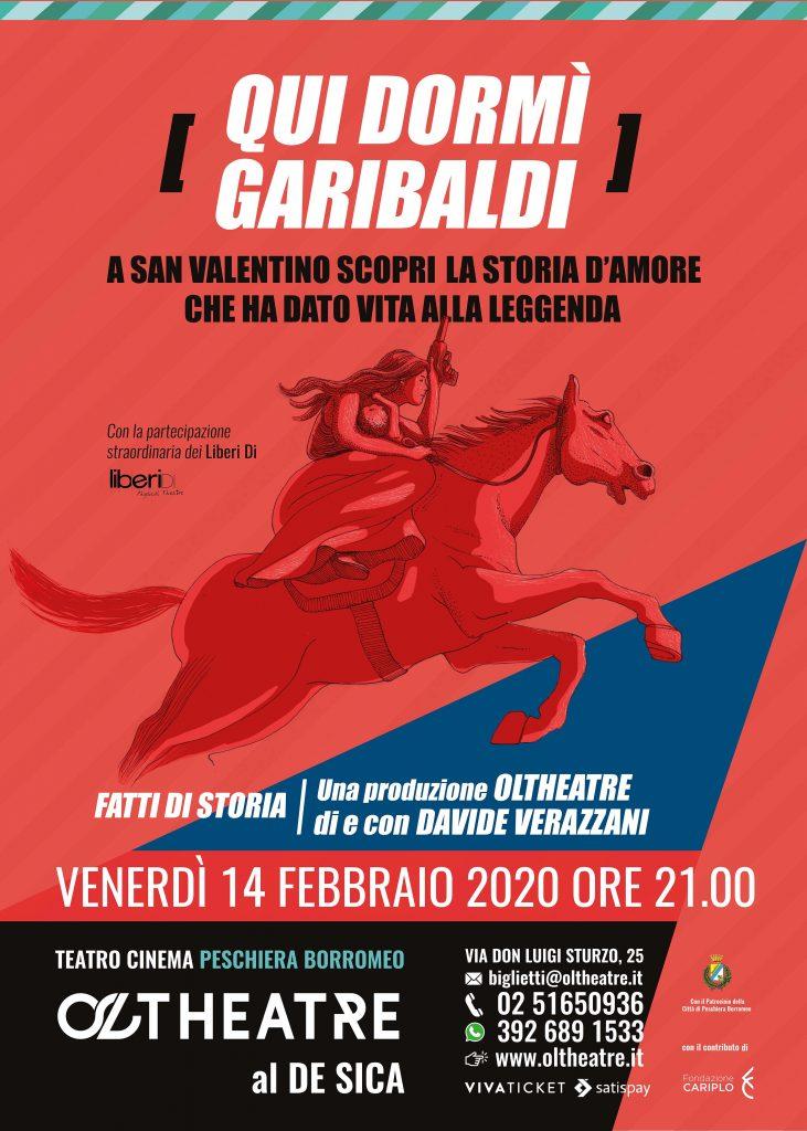 """Immagine coordinata stagione 2019/2020 - Illustrazione e grafica manifesto """"Qui dormì Garibaldi"""""""